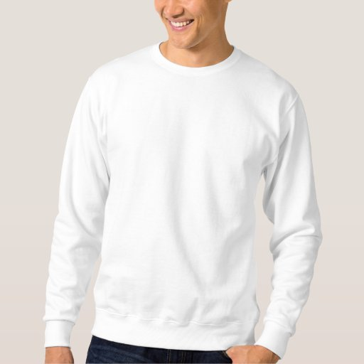 Weiß Embroidered Basic Sweatshirt