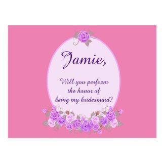 Gewohnheit ist meine Brautjungfernlila Postkarte
