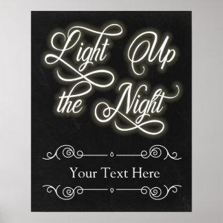 Gewohnheit leuchten dem Nachtzeichen - addieren Poster
