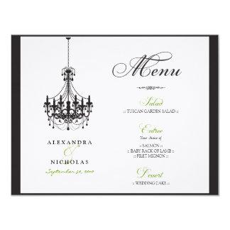 : Gewohnheit: Leuchter-Hochzeits-Empfangs-Menü 10,8 X 14 Cm Einladungskarte