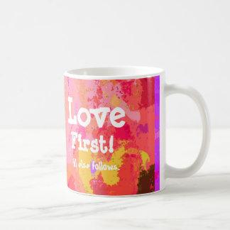 Gewohnheit Liebeerste Valentines Tages Kaffeetasse