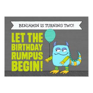 GEWOHNHEIT ließ den GeburtstagRumpus anfangen! 12,7 X 17,8 Cm Einladungskarte