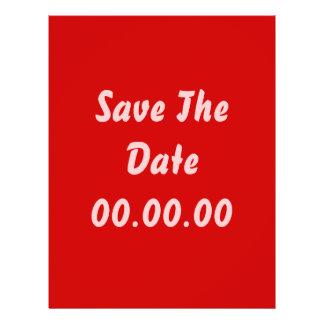Gewohnheit, Save the Date. Rot und Rosa 21,6 X 27,9 Cm Flyer