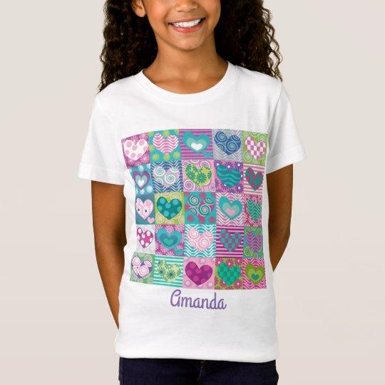 Gewohnheit verzierte Herzen T-Shirt