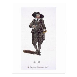 Gewohnheit von einem Oliverian, 1650 (Stich) Postkarte