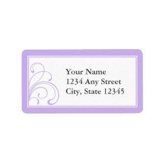 Gewohnheit Vor-Druckadressen-Etiketten lila u. Adressetiketten