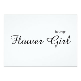 Gewohnheit zu meinem Blumen-Mädchen danken Ihnen Karte