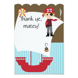Gewohnheits-ausgebuffter Pirat danken Ihnen Karte