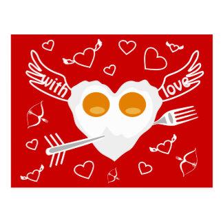 Gewohnheits-Postkarte Herz des Valentinstags Postkarte