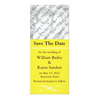 Gewohnheits-Save the Date Mitteilung oder 10,2 X 23,5 Cm Einladungskarte