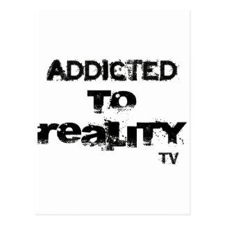 Gewöhnt zu Wirklichkeit Fernsehen Postkarte
