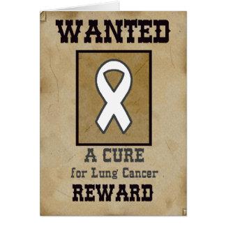Gewollt: Eine Heilung für Lungenkrebs Grußkarte