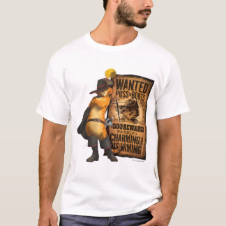 Gewollte Mietze in den Stiefeln (Holzkohle) T-Shirt