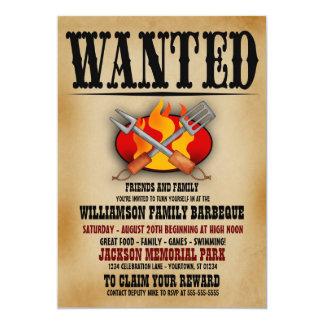 Gewollte Plakat-Familien-Grill-Einladungen 12,7 X 17,8 Cm Einladungskarte