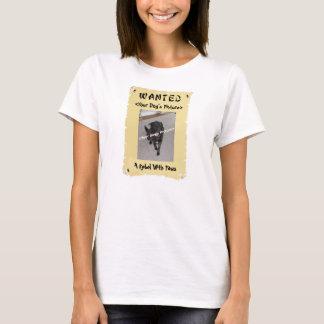 Gewollter das Plakat-T - Shirt des Hundeliebhabers