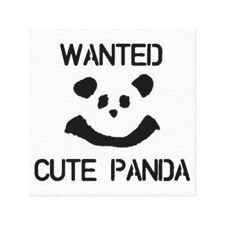 GEWOLLTER niedlicher Panda Leinwanddruck