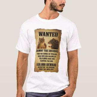 Gewolltes Plakat mit Eichhörnchen T-Shirt