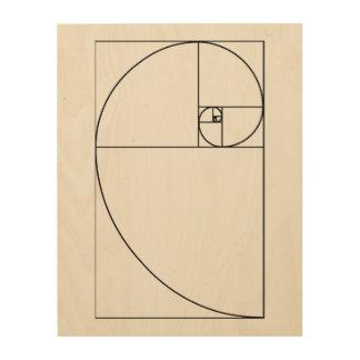 Gewundene hölzerne Plattenkunst Fibonaccis Holzwanddeko