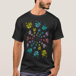 Gewundene Katzen T-Shirt