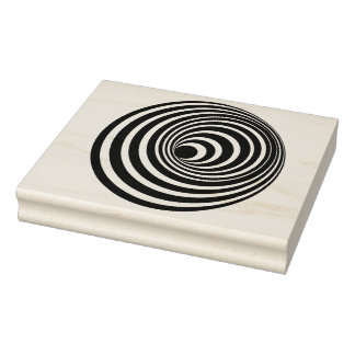 Gewundene optische Illusions-Gummikunst-Briefmarke Gummistempel