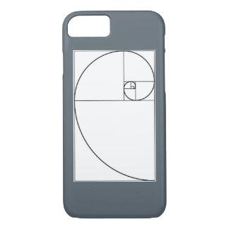 Gewundener Handyfall Fibonaccis iPhone 7 Hülle