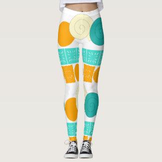 Gewundener Kreis-quadratische orange tadellose mit Leggings