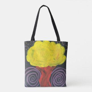 Gewundener Nachtbaum Tasche