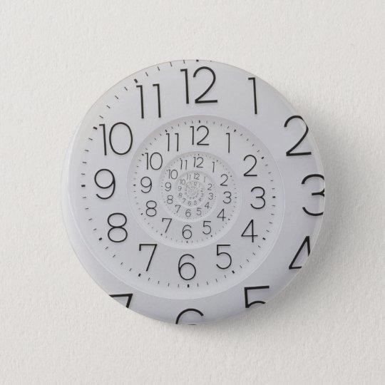 Gewundener Uhr Droste Knopf Runder Button 5,1 Cm