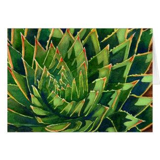 Gewundenes Aloe notecard Karte