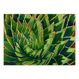 Gewundenes Aloe notecard Mitteilungskarte