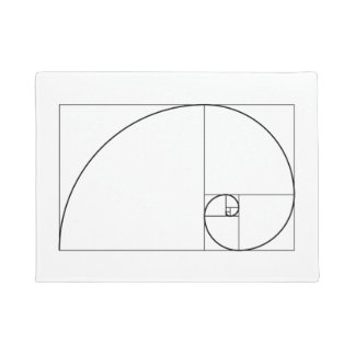 Gewundenes goldenes Verhältnis Fibonaccis Türmatte