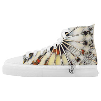 Gewundenes Kaninchen-Kaleidoskop Hoch-geschnittene Sneaker