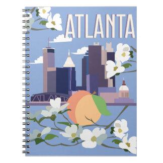 Gewundenes Notizbuch Atlantas Spiral Notizblock