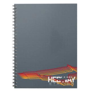 Gewundenes Notizbuch HEDWAY Station Notizblock