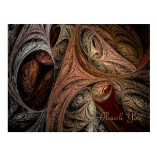 Gewürz-Drehungs-Fraktal Postkarte