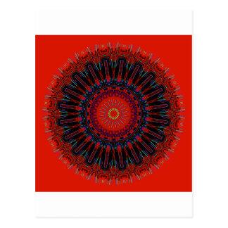 Gezackte Ränder des Wirklichkeits-Kaleidoskops Postkarte