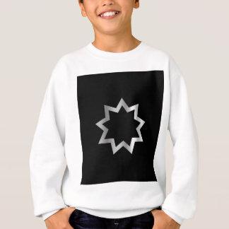 Gezeigter Stern Bahai Religion Symbols neun Sweatshirt