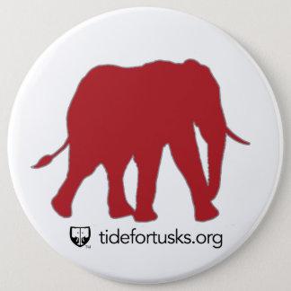 Gezeiten für Stoßzahn-Elefant-Knopf Runder Button 15,3 Cm