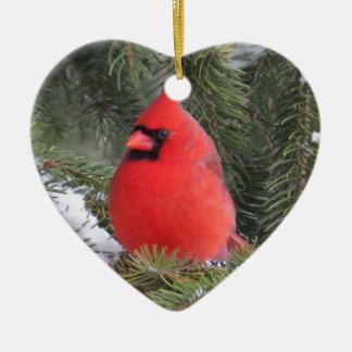 Gezierter Kardinal Keramik Ornament