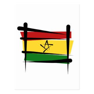 Ghana-Bürsten-Flagge Postkarte