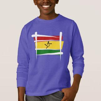 Ghana-Bürsten-Flagge T-Shirt