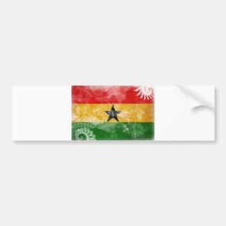 Ghana-Flagge Autoaufkleber