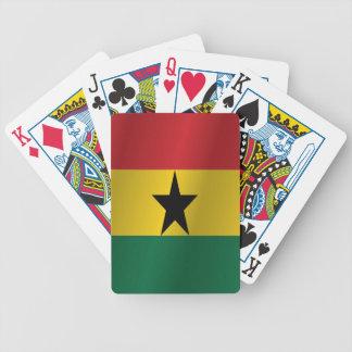 Ghana-Flagge Bicycle Spielkarten
