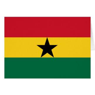 Ghana-Flagge Karte