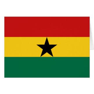 Ghana-Flagge Notecard Karte