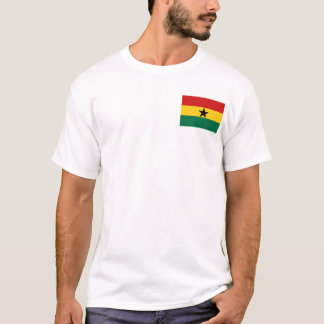 Ghana-Flagge und Karten-T - Shirt