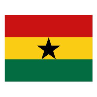 Ghana-Flaggen-Postkarte Postkarte