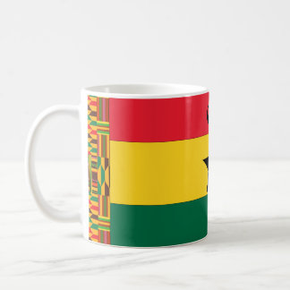Ghana-Schwarz-Stern-Flagge Kaffeetasse