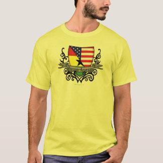 Ghanaisch-Amerikanische Schild-Flagge T-Shirt