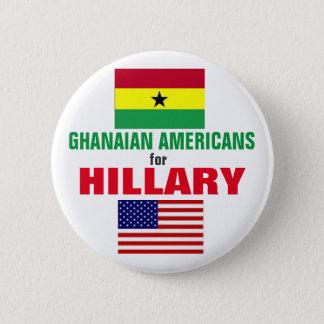 Ghanaische Amerikaner für Hillary 2016 Runder Button 5,1 Cm